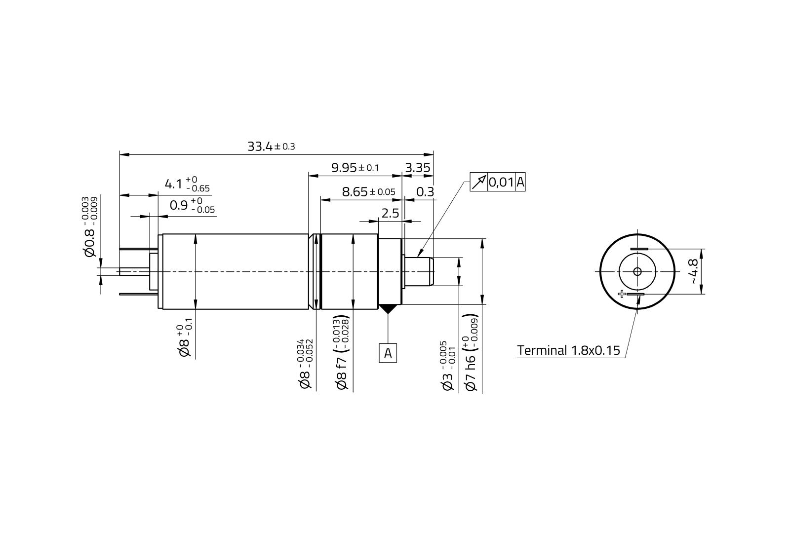 MaalonDrive® ZeroBacklash 8mm - Type 3