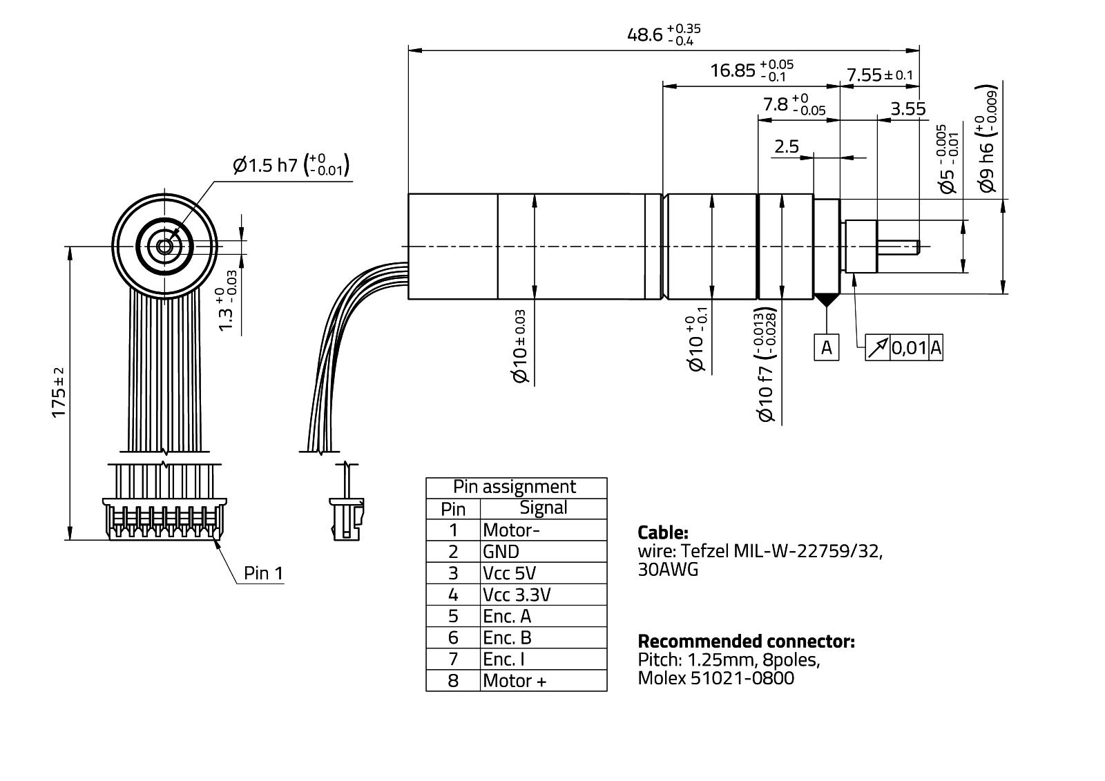 MaalonDrive® SpecialShaft 10mm - Type 6