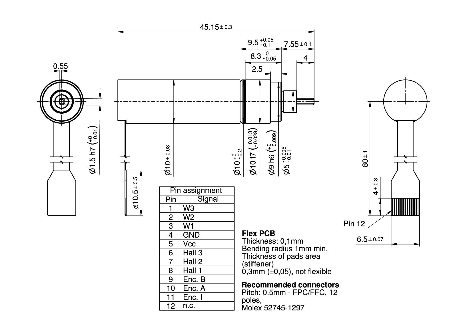 MaalonDrive® SpecialShaft 10mm - Type 7