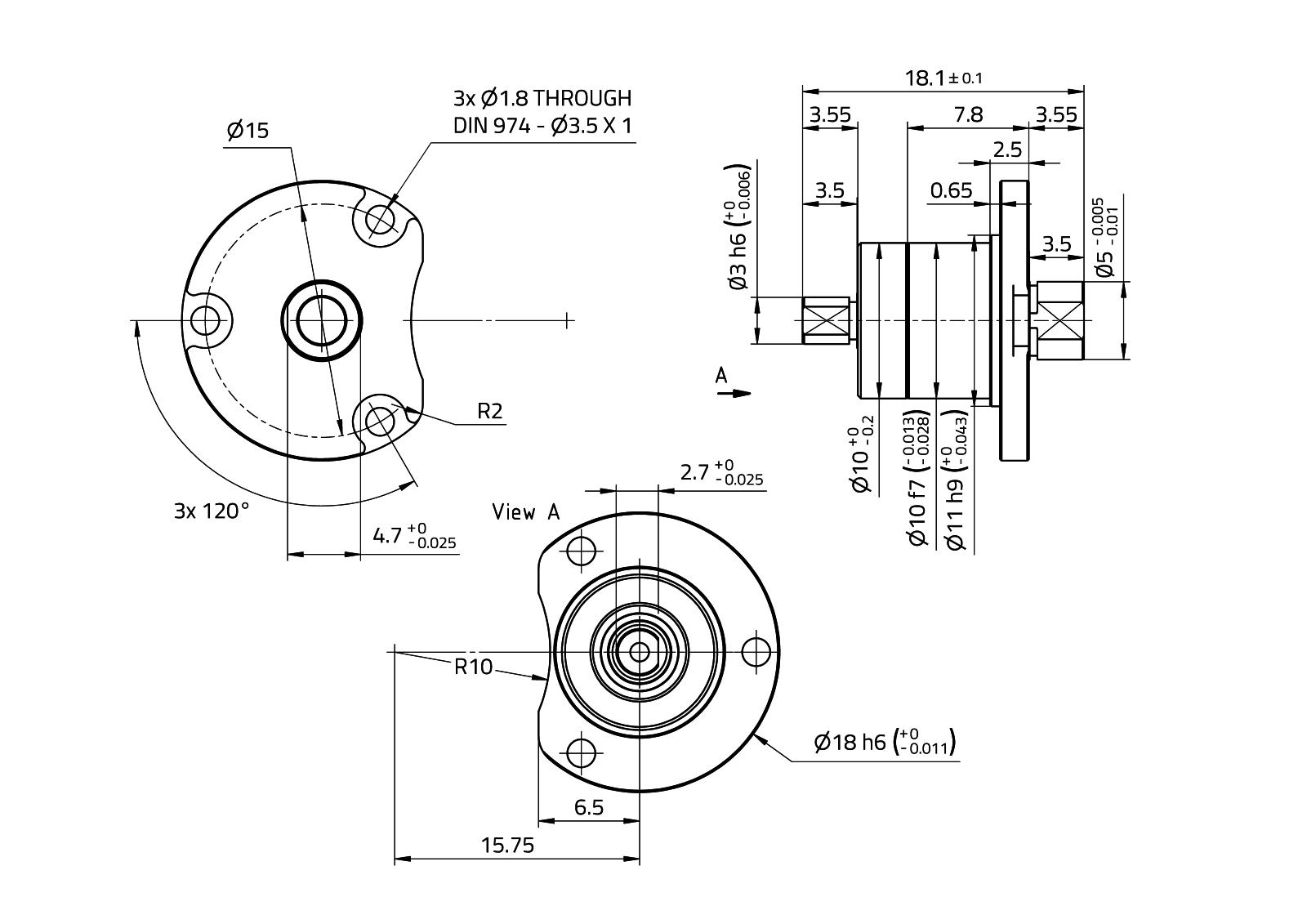CoograDrive® SpecialFlange 10mm - Type 2